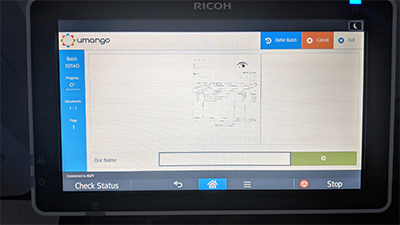 Umango embedded on a Ricoh device